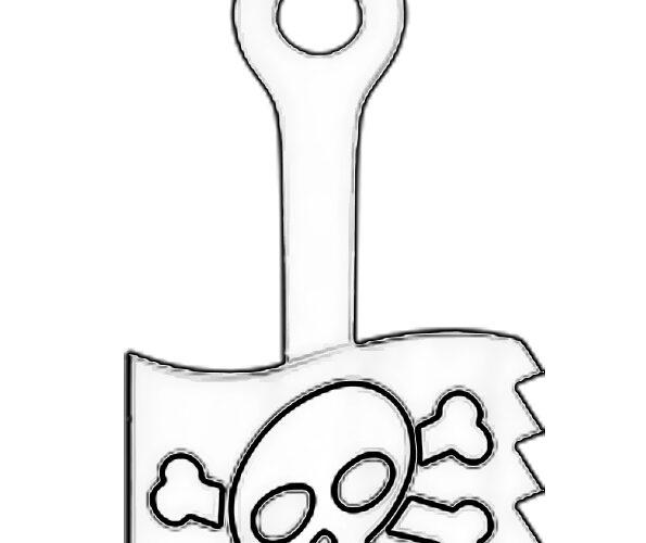 Флаг Пиратыш раскраска скрепышей 2 из Магнита 2020 года